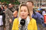 TV Reporter Being Sexually Assaulted When on Air in Cologne Festival