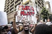 Flare Up, President Zuma Pressure by Thousands Protest