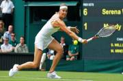 Four Months Pregnant, Mandy Minella Competes in Wimbeldon