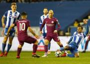 Babak I: Manchester City Tertahan di Markas Wigan Athletic