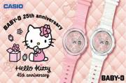 Terkenang 1990an, Baby-G Rilis Model Kolaborasi Hello Kitty Pink