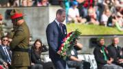 Prince William honors WWI dead in New Zealand on Anzac Day