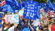 UK pro-EU campaigners hold No to Boris march in London