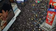 Hong Kong protesters back on streets after explosives discovery