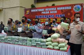 Polda Aceh dan Bea Cukai Gagalkan Penyelundupan Sabu Jaringan Internasional