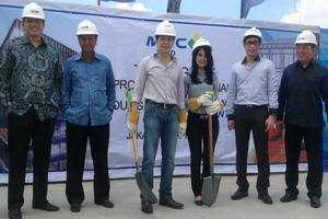 Gedung MNC Financial Center gelar prosesi topping off