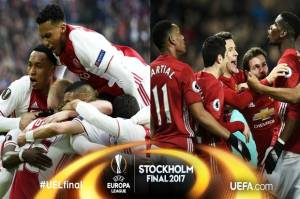 Prediksi Skor Ajax vs Manchester United, Final Liga Europa 25/5/2017