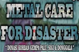 Peduli Korban Bencana, Kopaja Gelar Metal Care for Disaster
