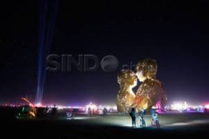 Festival Seni dan Musik The Burning Man 2014 di Nevada