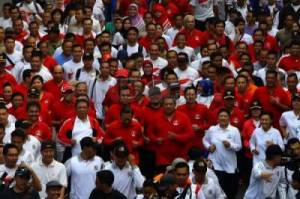 45 Ribu Peserta Ikuti Lomba Lari Independen Day Run 2014