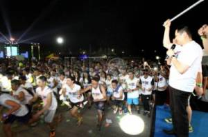Ribuan Peserta Ikuti MNC Channels Light Run
