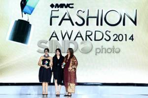 Dian Sastro Raih Best Fashionista dalam MNC Fashion Awards 2014