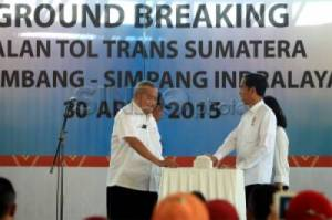 Jokowi Resmikan Ground Breaking Tol Palindra