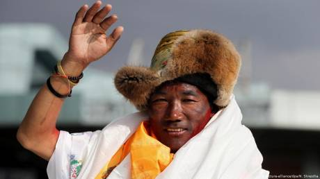 Mount Everest: Sherpa breaks own record after 24th climb