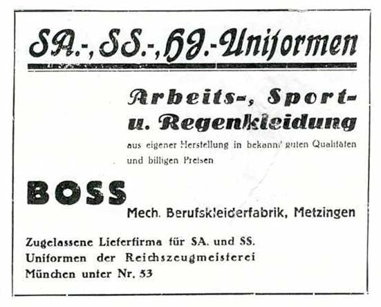 Hugo Boss, Label Fashion di Balik Seragam Nazi di Medan Perang