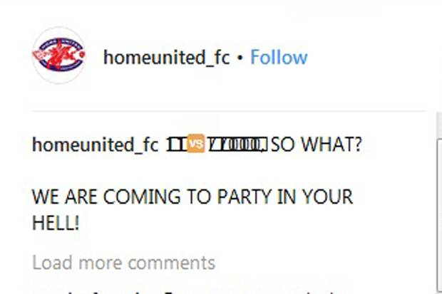 Akun Instagram Home United Diserbu Netizen