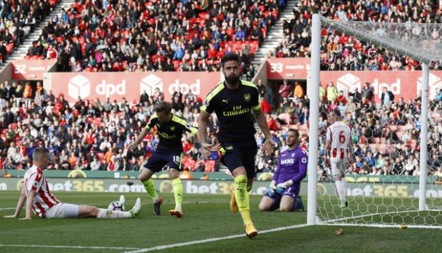 Arsenal Pesta Gol ke Gawang Stoke City