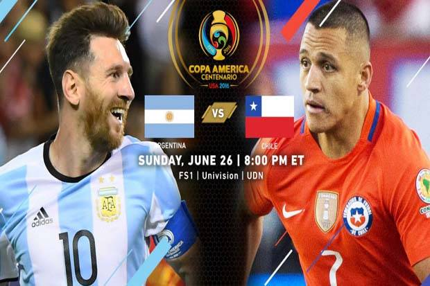 Preview Argentina vs Chile: Dihantui Kutukan 2004 dan 2007