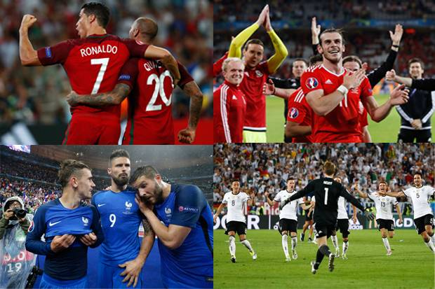 Preview Semifinal Piala Eropa 2016 Portugal vs Wales Prancis vs Jerman