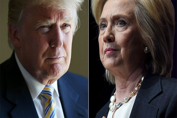 Polling Reuters: Hillary Unggul 5 Poin Atas Trump