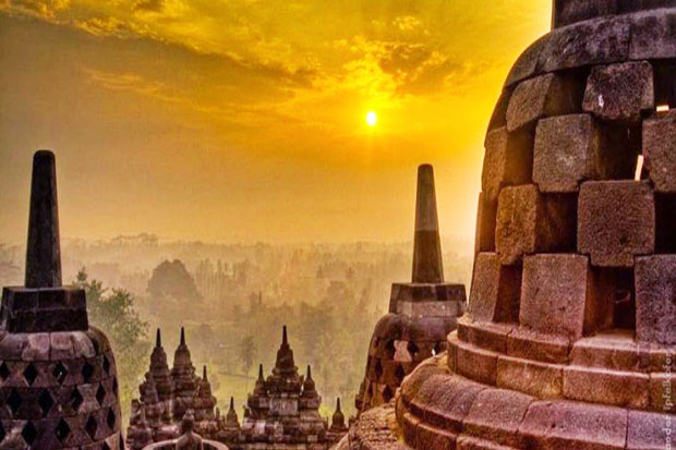 Found, Site Covering Four Times Borobudur Temple
