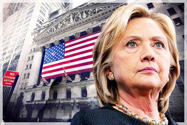 Hillary Best Candidate for Stock Market