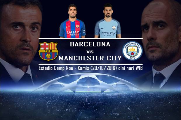 Preview, Prediksi Skor, Data dan Fakta Barcelona vs Man City