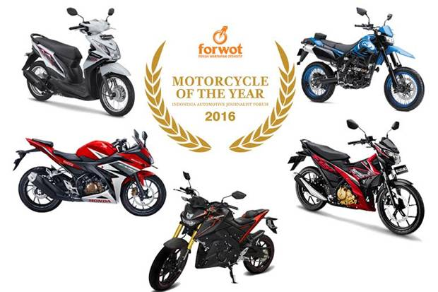 Lima Model Sepeda Motor Berebut Gelar Motorcycle of the Year 2016