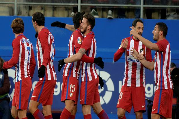 Taklukan Eibar, Atletico Madrid Kuntit Real Madrid