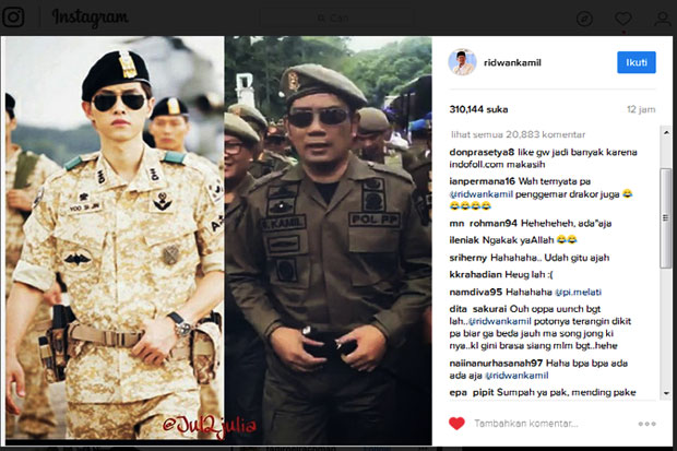When Ridwan Kamil Coupled with Song Joong Ki
