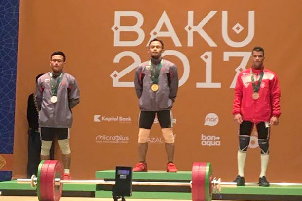 Two Indonesian Lifter Wins First Gold Medal in ISG 2017
