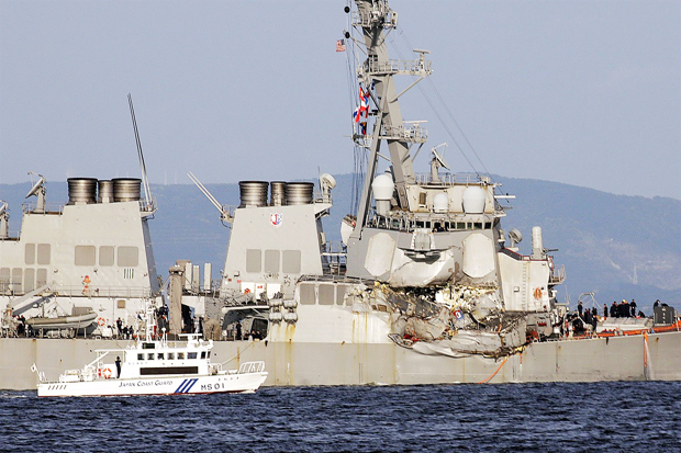 Seven US Navy Missing in USS Fitzgerald Crash