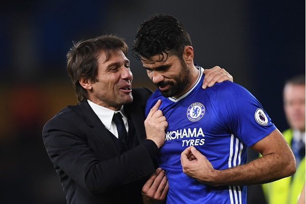 Conte Coret Diego Costa from Chelsea's Skuat in the Champions League