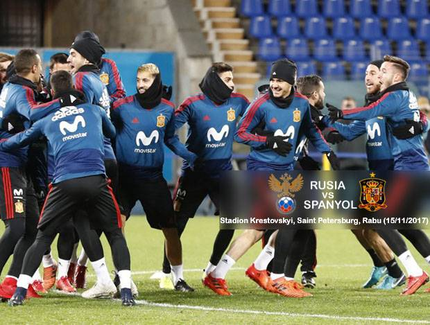 Preview Rusia vs Spanyol: La Roja Jaga Rekor Clean Sheet