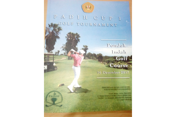 PADIH Cup 1 Golf Tournament, Ketua MA: Jadi Ajang Silaturahmi