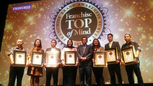 Ini Merek-merek Franchise Top of Mind 2017
