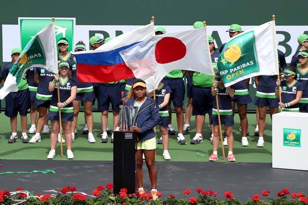 Naomi Osaka Petenis Termuda Juara Indian Wells