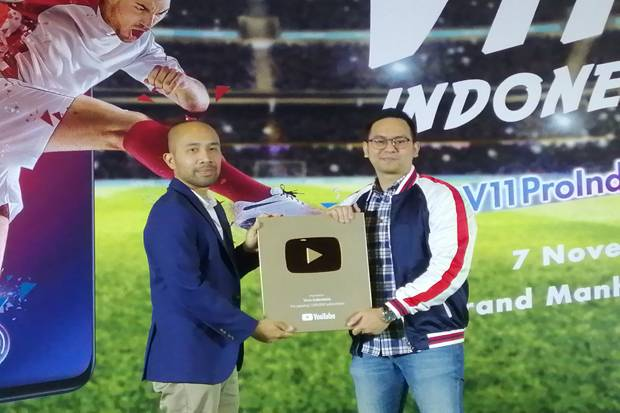 Tembus 1 Juta Subscribers, Vivo Indonesia Terima Play Gold Button