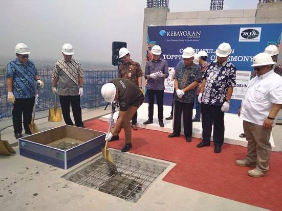 PT KPP Gelar Topping Off Tower Ruby Kebayoran Apartment