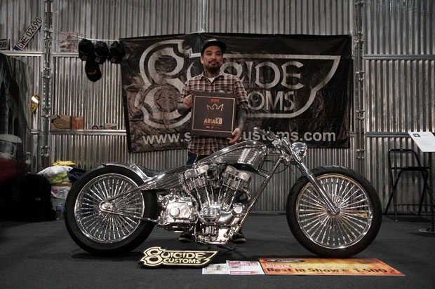 Motor Buatan Builder RI Sabet Gelar The King of Motor Bike Expo 2019