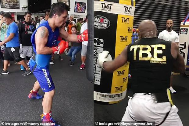 Mayweather dan Pacquiao Posting Video Latihan, Sinyal Rematch?