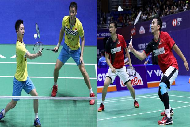 Rekor Quadruple Final Marcus/Kevin vs Hendra/Ahsan Musim 2019