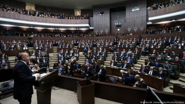 Turkish lawmakers brawl after passage of electoral law
