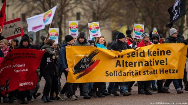 Protests as far-right AfD wrangles over Europe candidates