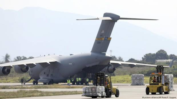 US military planes carrying aid arrive near Venezuelan border