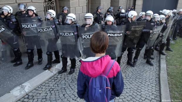 Tensions escalate in Belgrade after breach of public TV station
