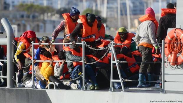 Migrants stranded on Sea-Eye ship land in Malta