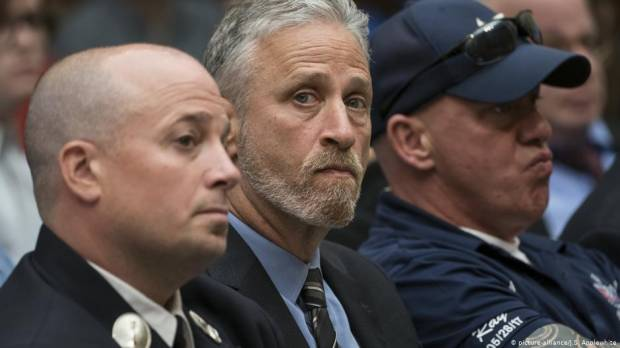 Jon Stewart eviscerates US Congress over 9/11 first responder fund