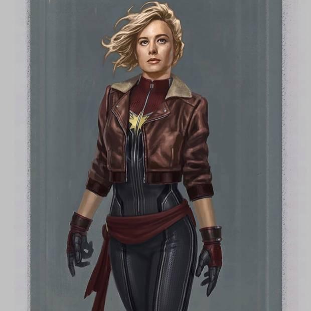 Captain Marvel Pakai Sepatu Wedges dalam Desain Asli yang Dibuat Ilustrator