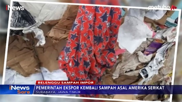 RI Kirim Balik 5 Kontainer Sampah ke AS